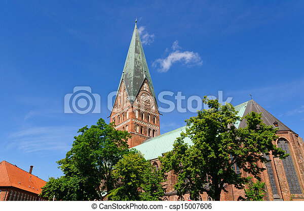 stock photography of the st 39 s church in l neburg l neburg is a town in the csp15007606