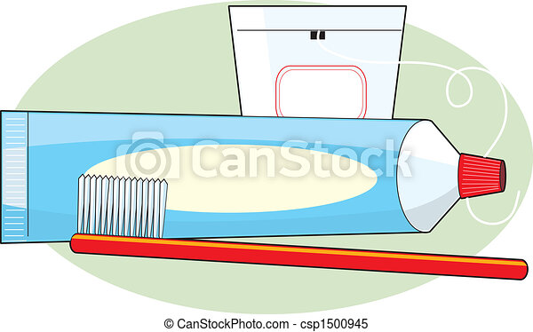 Toothpaste and Brush - csp1500945