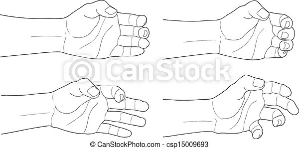 Adult man hand to hold something - csp15009693