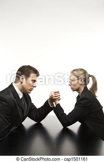 Battle of the sexes. - csp1501161
