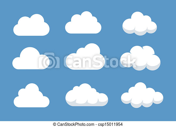 Cloud Shapes Drawing Different Cloud Shapes