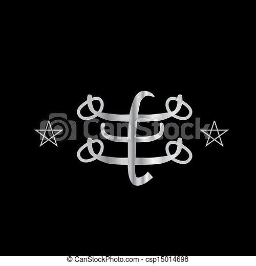 Ringstone symbol- Bahai religion - csp15014698