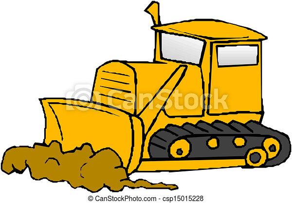 Clip Art Bulldozer Clipart vector clip art of bulldozer csp15015219 vector