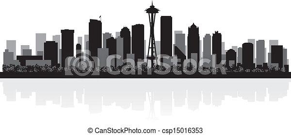 Seattle Skyline Drawing Seattle City Skyline