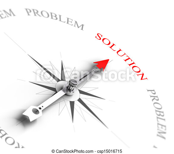 Solution vs Problem Solving - Business Consulting - csp15016715