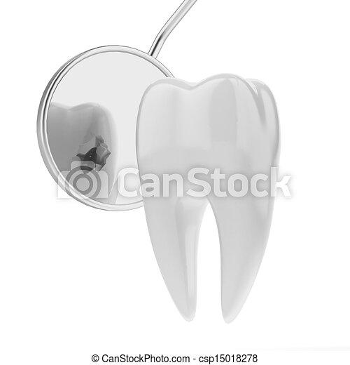 Illustrations de dent dentiste bouche miroir isol for Miroir de dentiste