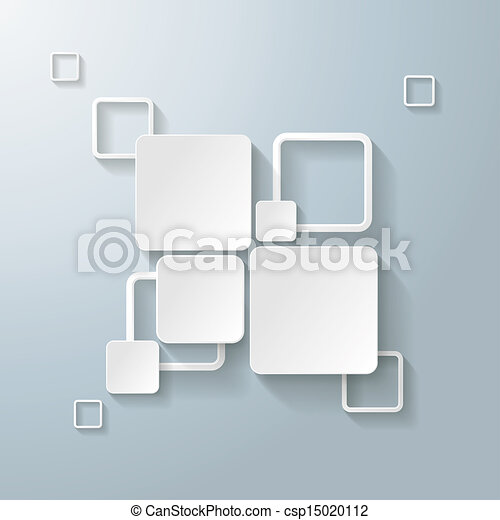 stock illustration wei es rechteck quadrate 2. Black Bedroom Furniture Sets. Home Design Ideas
