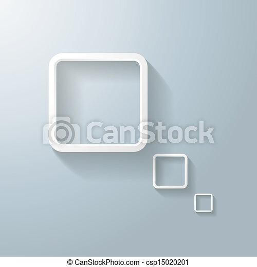 stock illustration abstrakt wei es rechteck gedanke. Black Bedroom Furniture Sets. Home Design Ideas