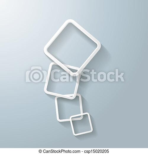 stock illustration von abstrakt wei es rechteck. Black Bedroom Furniture Sets. Home Design Ideas