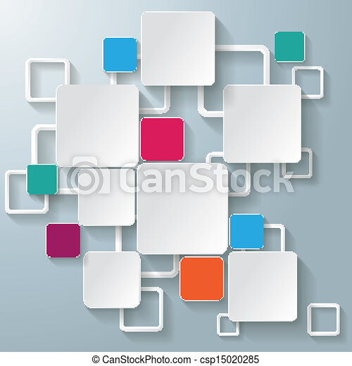 Infographic design on the grey background eps 10 vector file - Vector Of Colorful Rectangle Squares Infographic Design