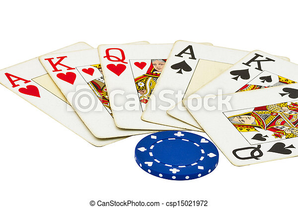 gambling items isolated on white - csp15021972