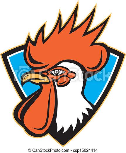 Rooster Cockerel Head Crest - csp15024414