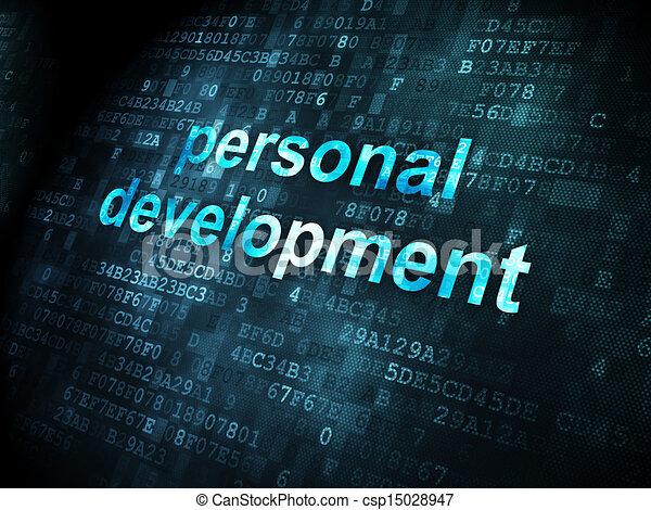 Education concept: Personal Development on digital background - csp15028947