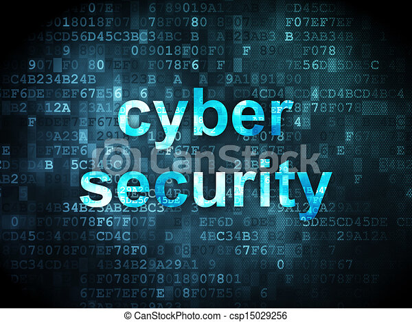 Protection concept: Cyber Security on digital background - csp15029256