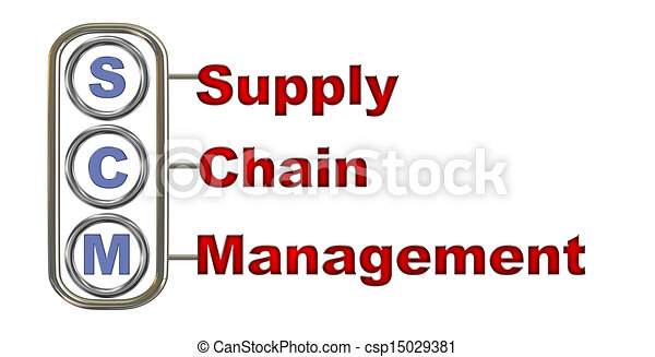 Stock Illustration of 3d scm - supply chain management - 3d ...