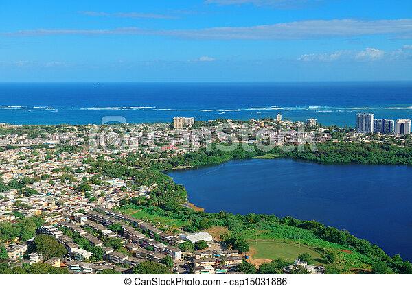 San Juan aerial view - csp15031886