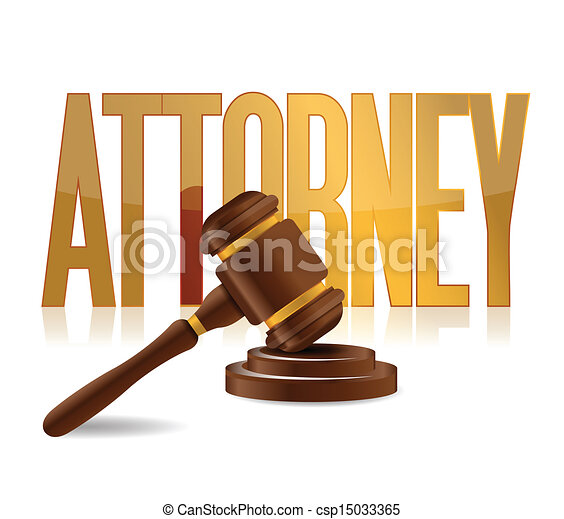 attorney at law sign illustration design - csp15033365
