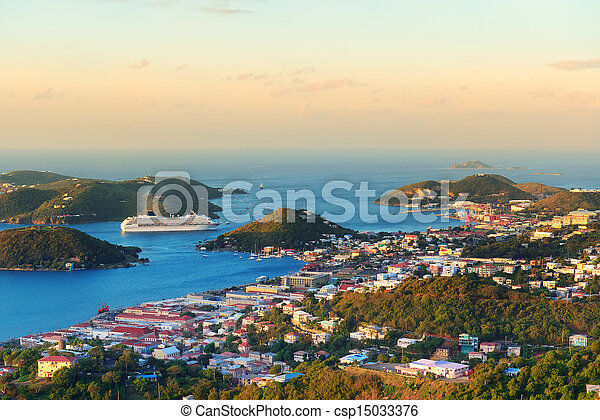 St Thomas sunrise - csp15033376