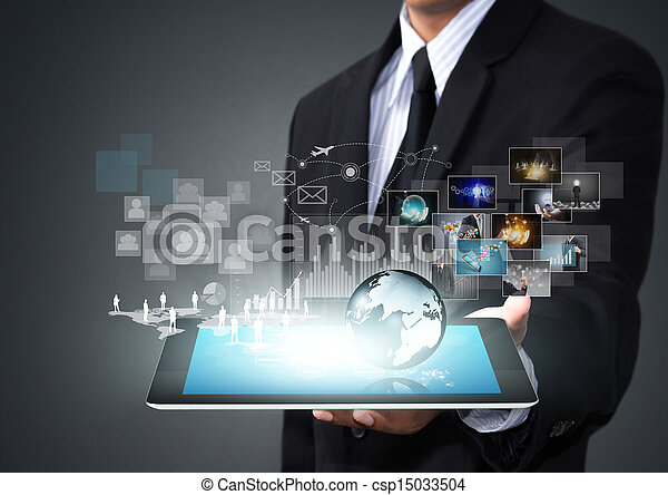接觸, 屏幕, 技術 - csp15033504