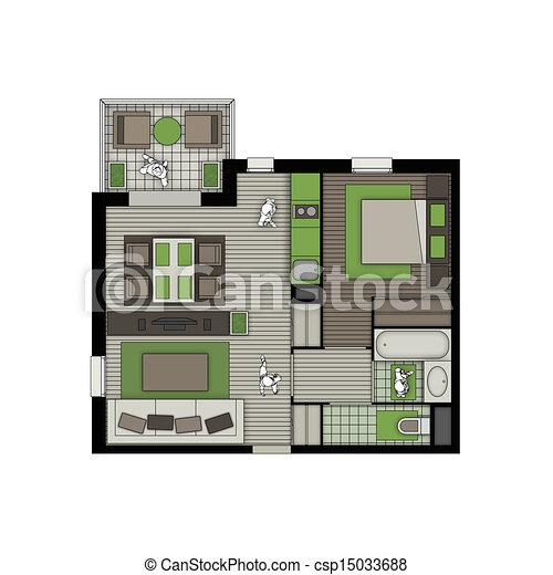 Banco de imagens de dois quartos apartamento sacada for Sala de estar 3x5