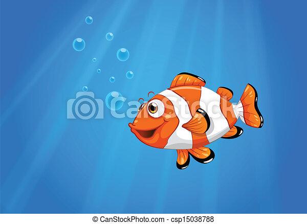 Nemo Fish Drawings a Sea With a Nemo Fish