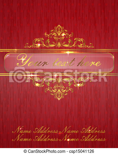 vintage background with place for text - csp15041126