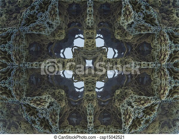 Clip art van kristal abstract grot fractal desig kristal grot 3d csp15042521 zoek - Grot ontwerp ...