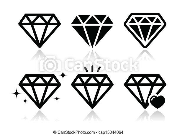 钻石, 矢量, 图标, 放置 - csp15044064
