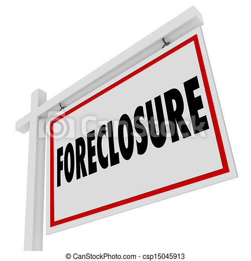 Foreclosure For Sale Real Estate Home Bank Default Mortgage - csp15045913