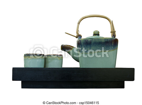 Stock Photography of chinese tea pot isolated white ...