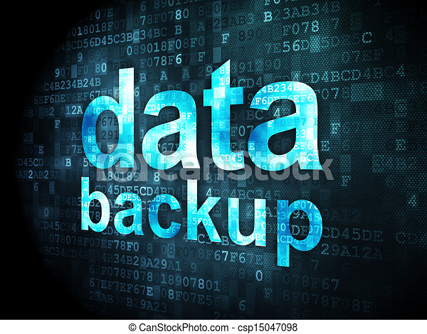 Information concept: Data Backup on digital background - csp15047098