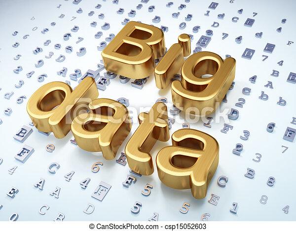 Data concept: Golden Big Data on digital background - csp15052603