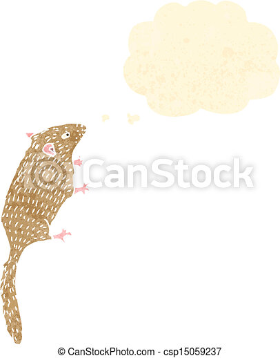Retro cartoon field mouse royalty free vector eps for Field mouse cartoon