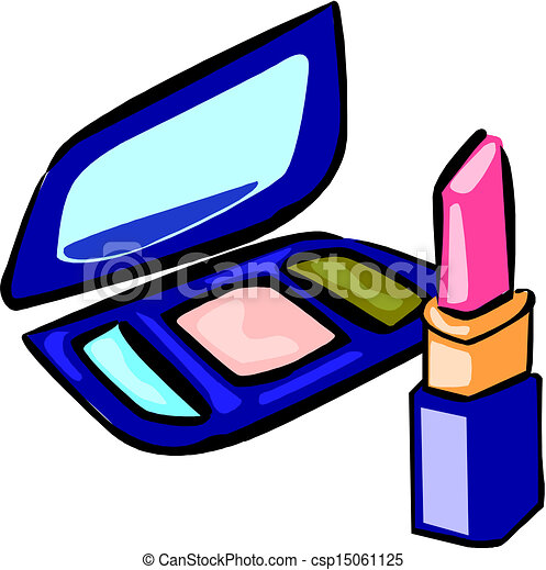 Makeup objects, vector illustration - csp15061125