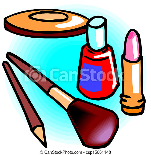 Makeup objects, vector illustration - csp15061148