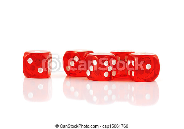 Red playing dices isolated - csp15061760