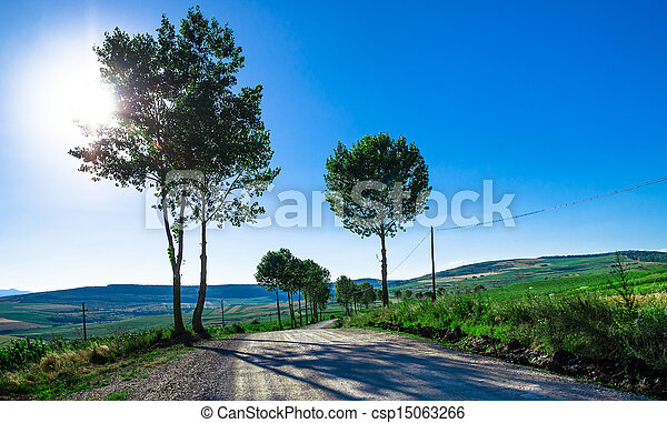 Rural road over the hills - csp15063266