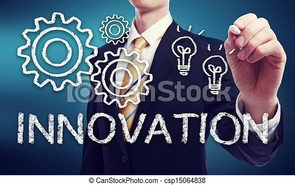 Business Man with Innovation Concept  - csp15064838