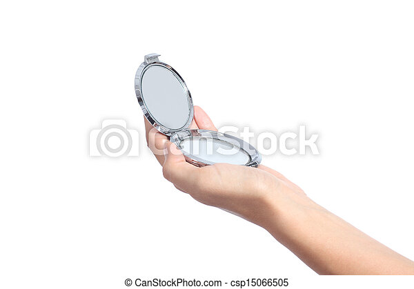 Stock Photography Of Woman Hand Holding A Hand Mirror