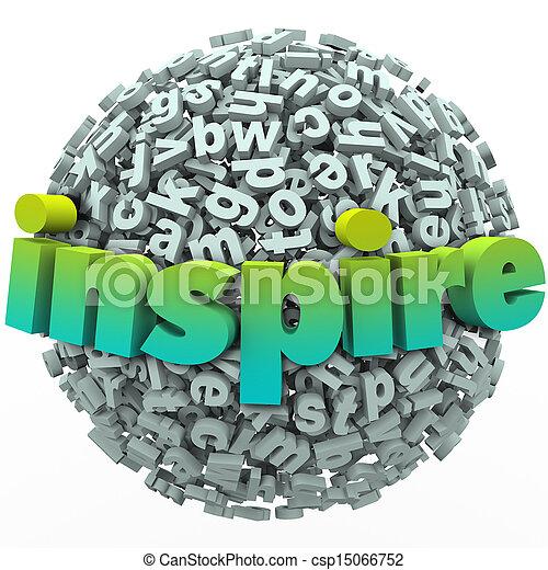 Inspire Word 3D Letter Sphere Ball Motivational Education - csp15066752