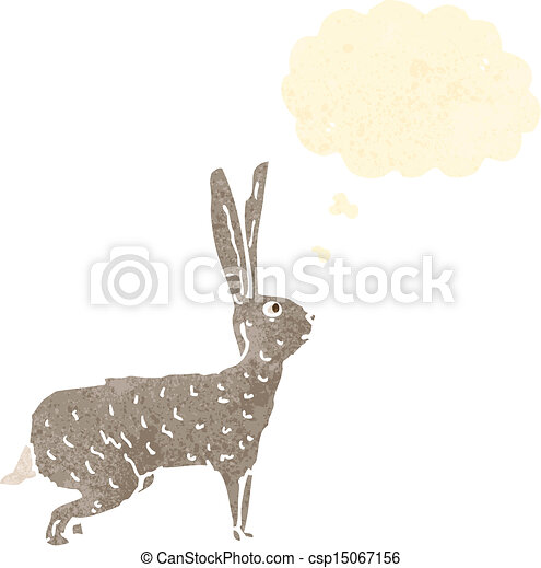 Hare Line Drawings Vector Hare Retro Cartoon