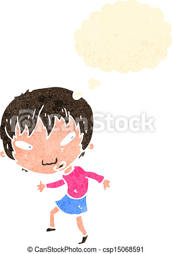 EPS Vectors of cartoon big head girl csp15068591 - Search Clip Art ...