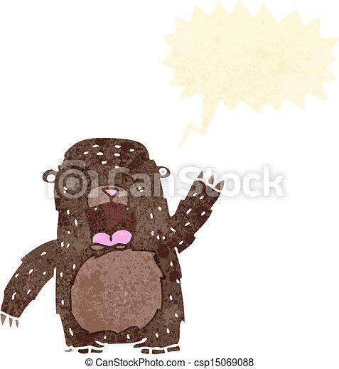 bear - stock illustration  royalty free illustrations  stock clip art    Roaring Bear Clip Art