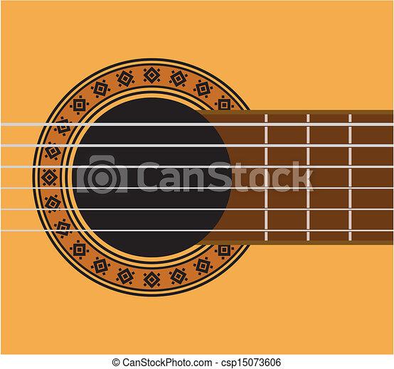 Guitar detail - guitar sound hole  - csp15073606