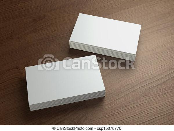 business cards design presentation 1 - csp15078770