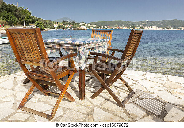 Table and chairs in Greece - csp15079672