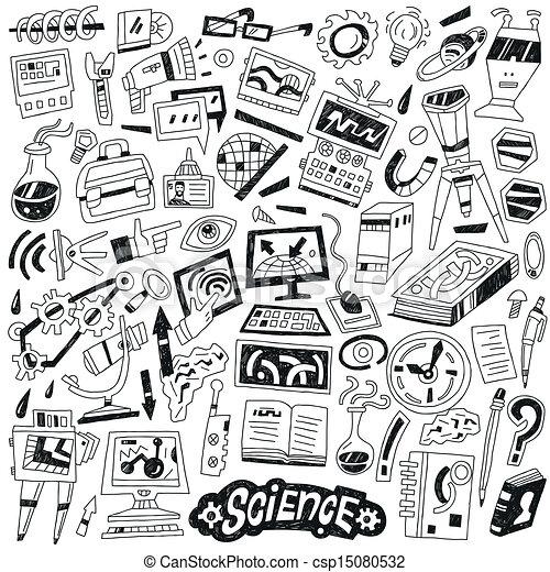 Vectors of Science - doodles csp15080532 - Search Clip Art ...