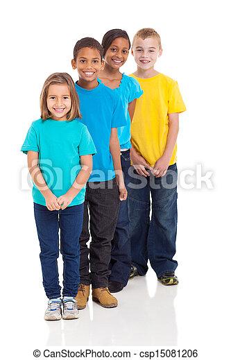 multirassisch, junger, Kinder - csp15081206