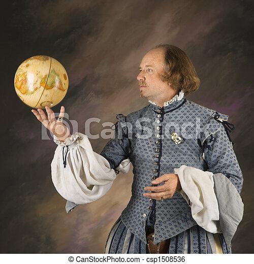 Shakespeare with globe.