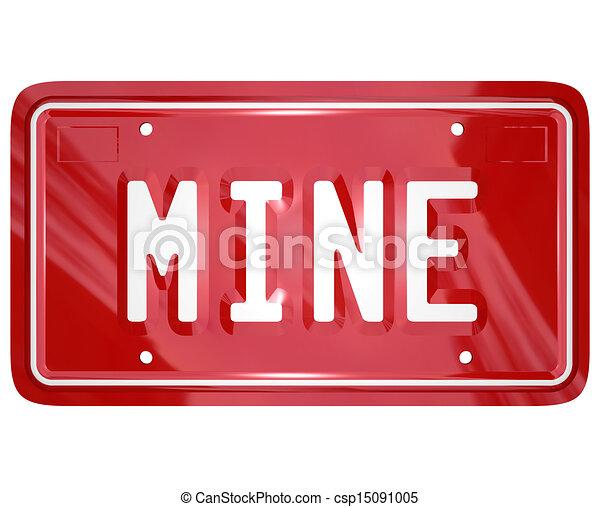 illustration de plaque mot licence voiture mine auto rouges vanit csp15091005. Black Bedroom Furniture Sets. Home Design Ideas